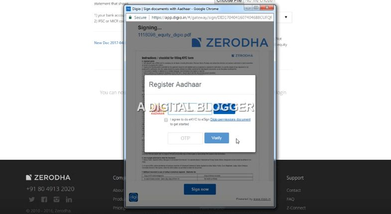 Zerodha Demat Account