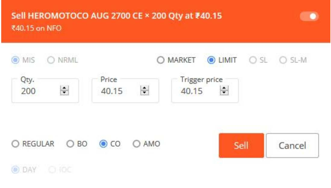 Zerodha Options